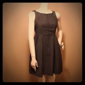 Grey Derek Heart vintage repro style dress